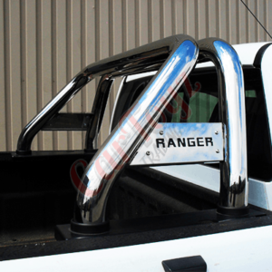 Ford Ranger Roll Bar T6/T7 2016 on Stainless Steel - Side Plates